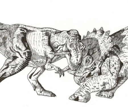 t rex vs triceratops coloring pages