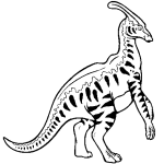 Parasaurolophus coloring pages free