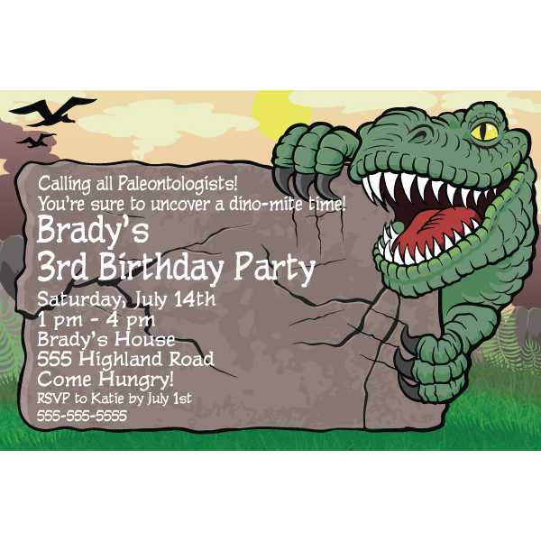 Dinosaur Birthday Party Invitations alesiinfo