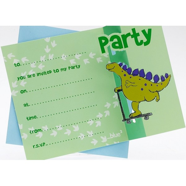 dinosaur birthday invitations for kids