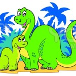 Cartoon Dinosaur – How to and Coloring Pages