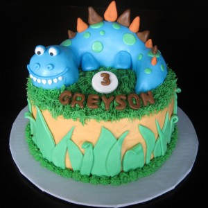 how to make a dinosaur cake out of cupcakes