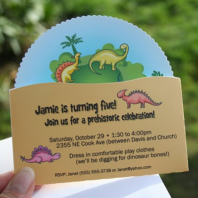 Dinosaur Invitations - Dinosaurs Birthday Party