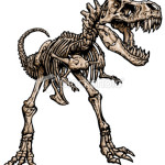 t rex skeleton coloring pages