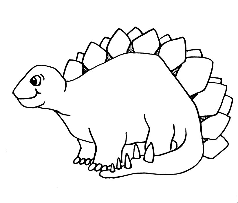 Stegosaurus dinosaurs coloring pages