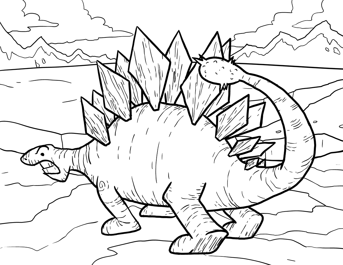 Online stegosaurus coloring pages for kids