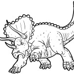 triceratops coloring pages to print