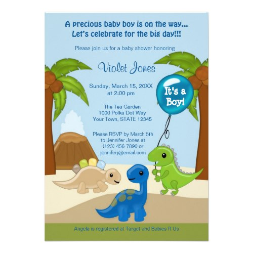 dinosaur invitations free