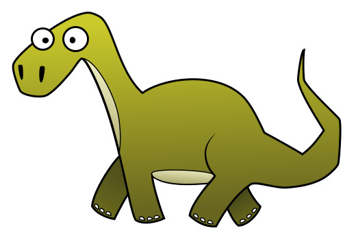 Cartoon Dinosaur Pictures - Brachiosaurs Green