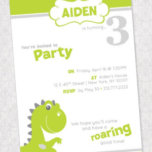 dinosaur invitations template