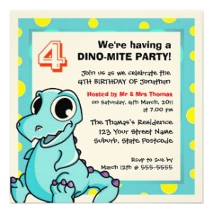 dinosaur invitations for kids