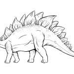 stegosaurus coloring pages kids