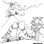 stegosaurus coloring pages for kids