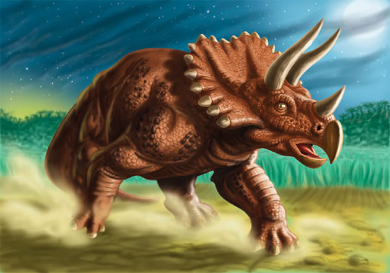facts about triceratops body