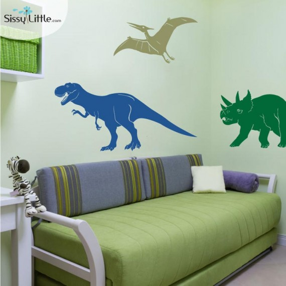 Dinosaur wall decals for kids dinosaurs pictures and facts - Boys room dinosaur decor ideas ...