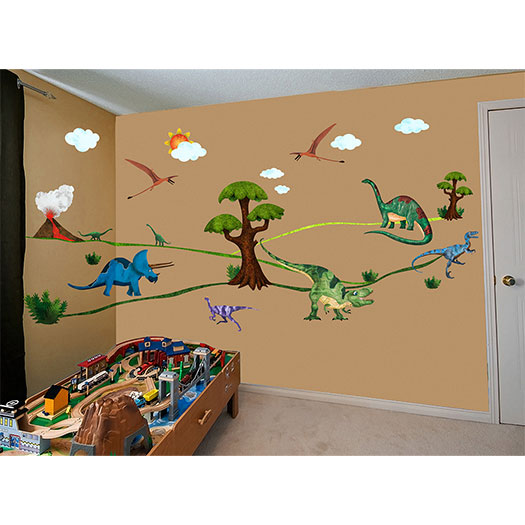 dinosaur wall decals for kids dinosaurs pictures and facts 3d dinosaurs through the wall stickers jurassic park home