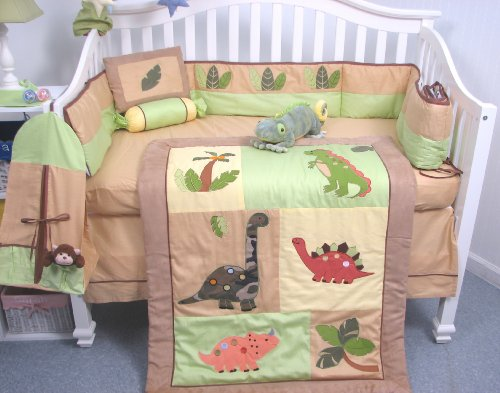dinosaur crib set