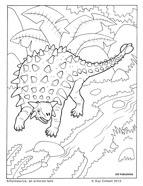 Ankylosaurus Coloring Pages | Dinosaurs Pictures and Facts