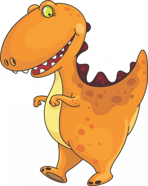 Cute T-rex picture for kids