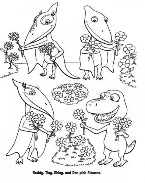 dinosaur train coloring book pages