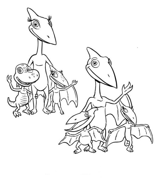 free dinosaur train coloring sheets