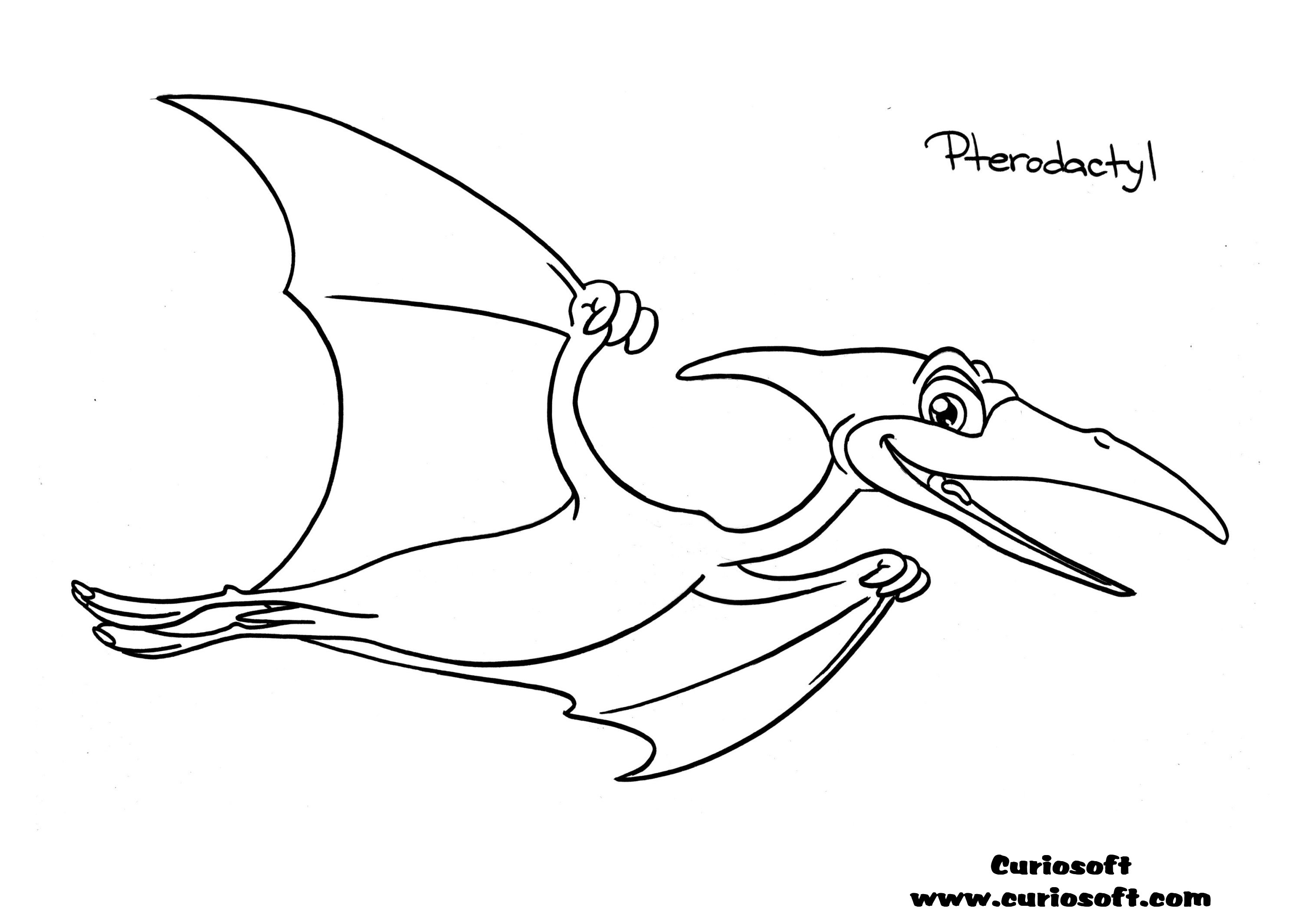 pterodactyl coloring pages free