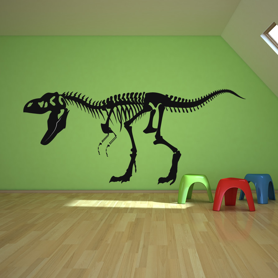 Skeleton T Rex Dinosaurs Wall Decals