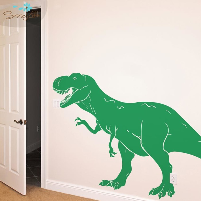T-Rex dinosaur wall stickers bedroom