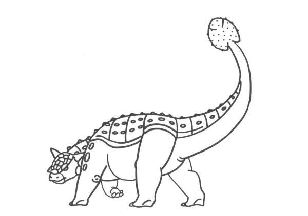 ankylosaurus pictures for coloring