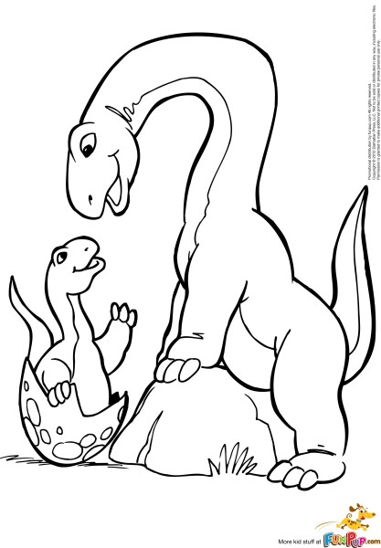 Funny Brachiosaurus Coloring Page