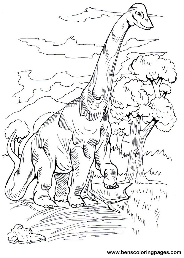 free brachiosaurus coloring pages