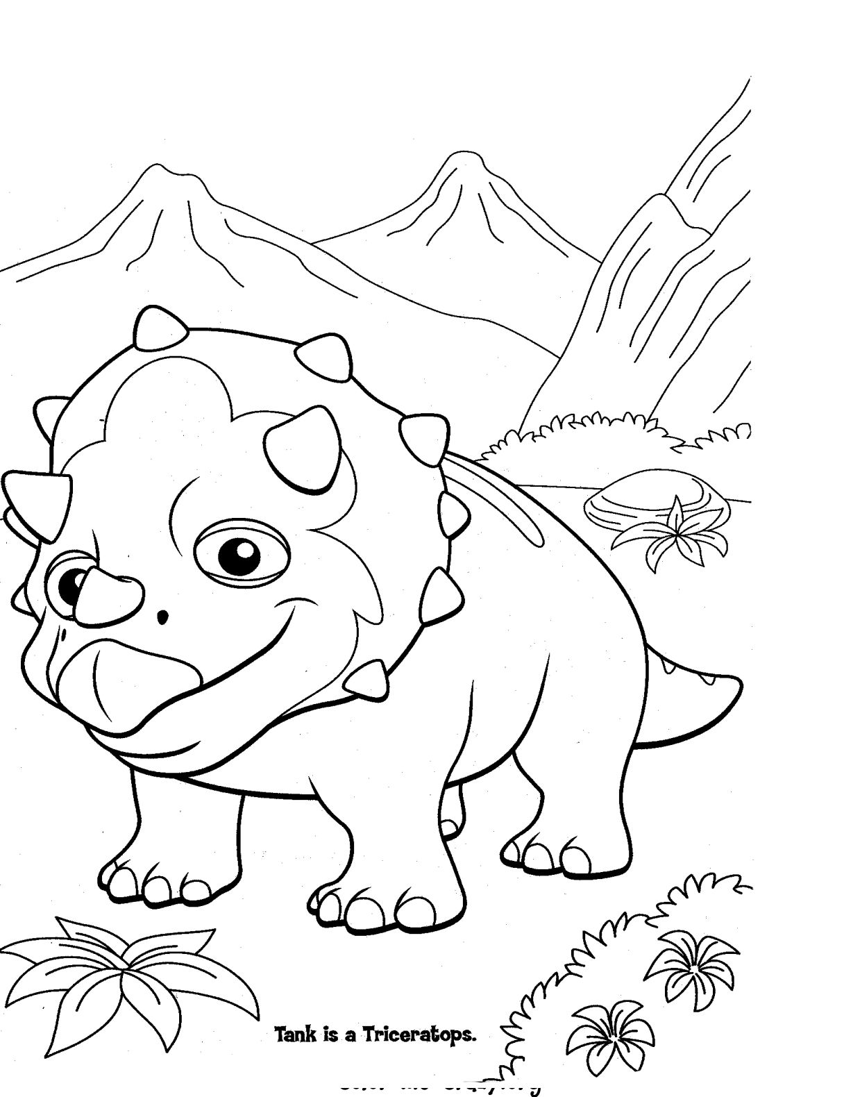 dinosaur facts and coloring pages - photo#50