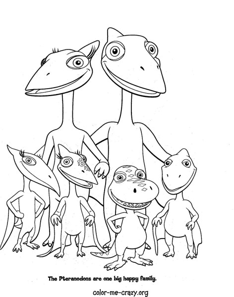 dinosaur train colouring pages to print
