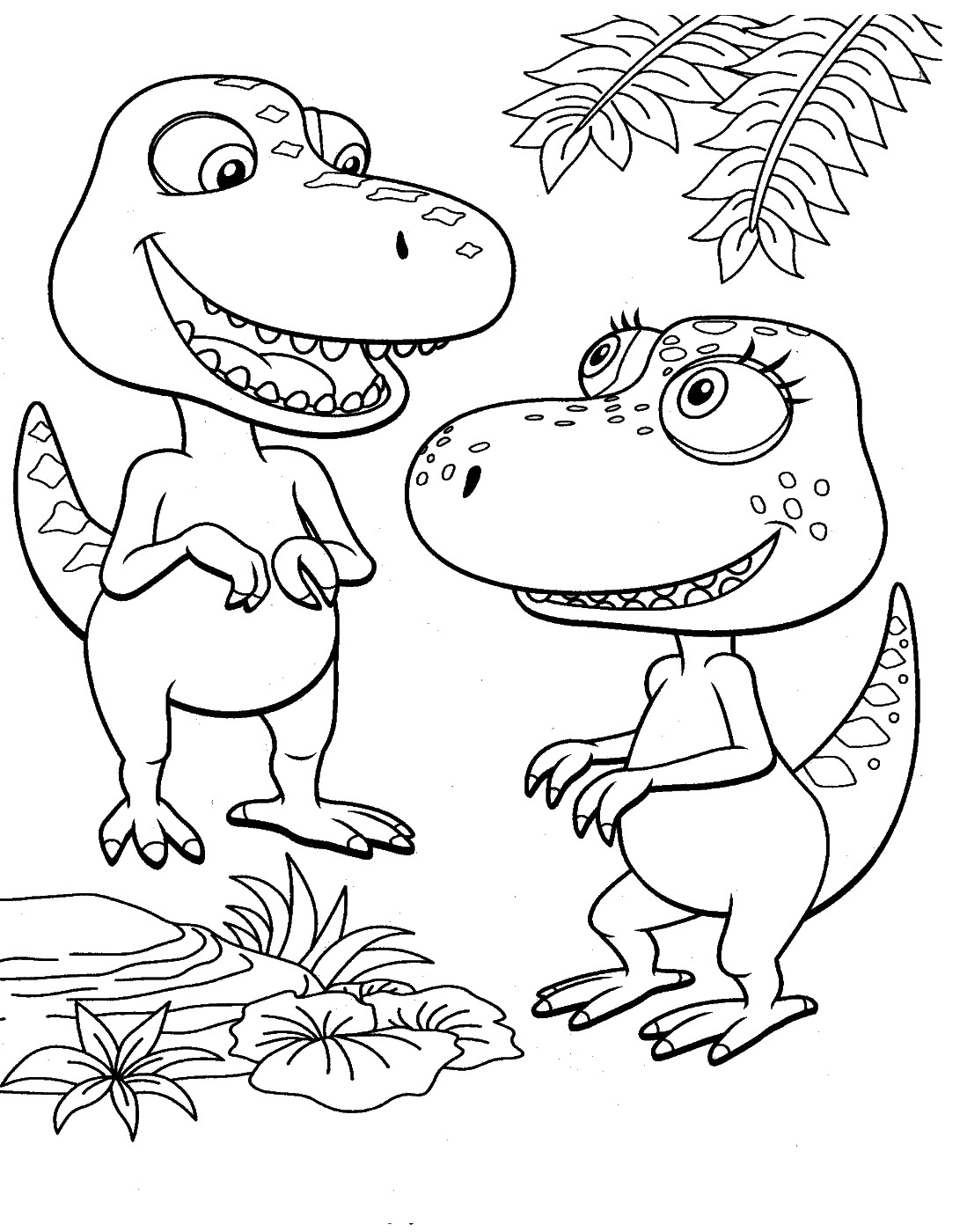 Dinosaur train coloring pages dinosaurs pictures and facts for Train coloring book pages