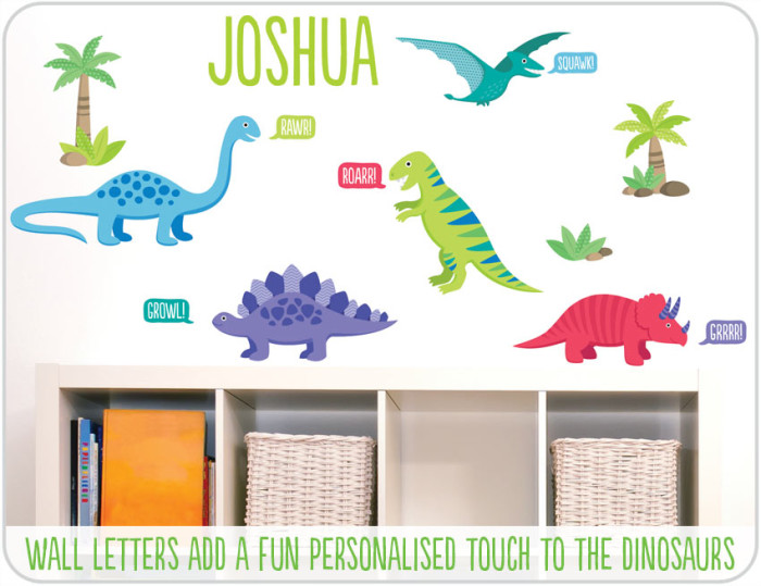dinosaur wall stickers bedroom
