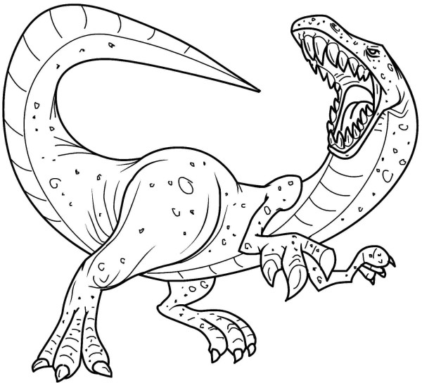 Dinosaur Allosaurus Coloring Pages Free