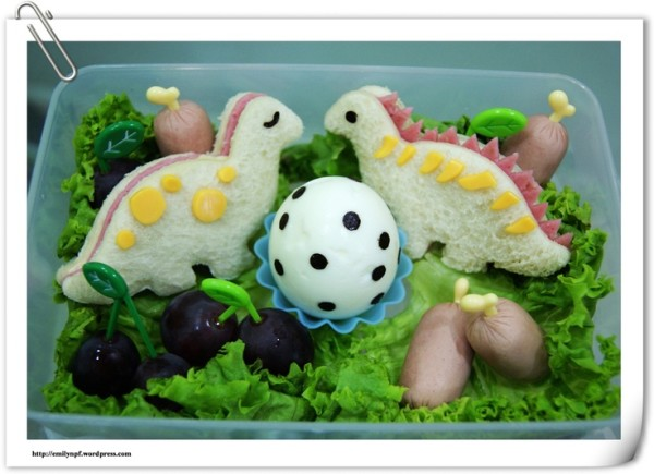 Dinosaur and Egg Bento