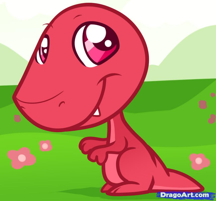 Funny T-rex picture for kids