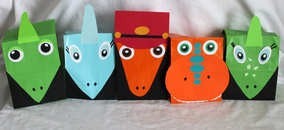 dinosaur train party favor bags