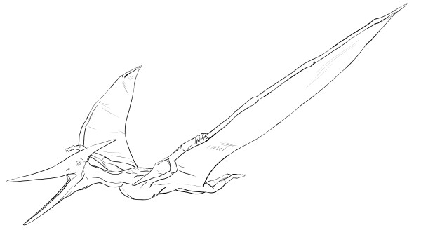 Flying Pteranodon