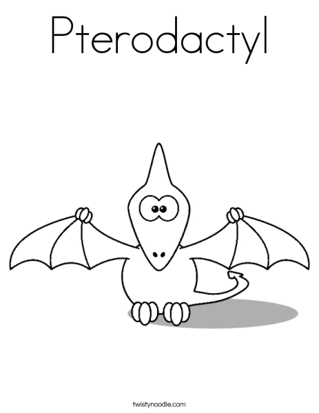 Free Pterodactyl Coloring Page