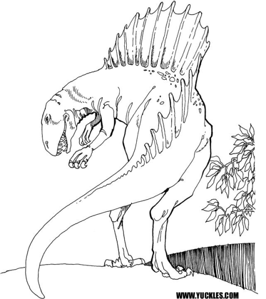 spinosaurus coloring pages to print