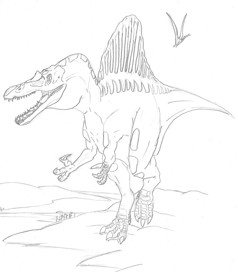 Spinosaurus Coloring Pages | Dinosaurs Pictures and Facts
