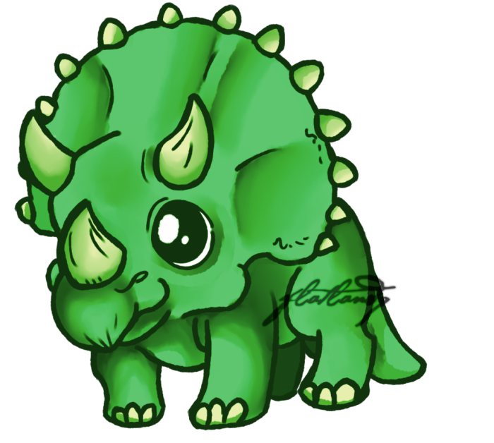 Cute Triceratops Dinosaur Pic