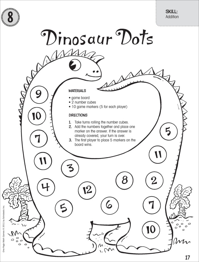 dinosaur math games for preschoolers