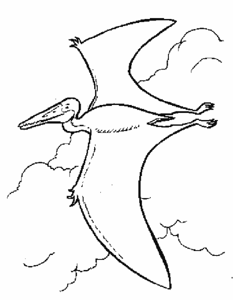 Cearadactylus Flying Dinosaurs Coloring Pages