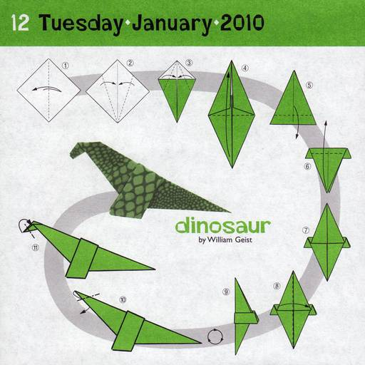 origami dinosaur printable diagrams