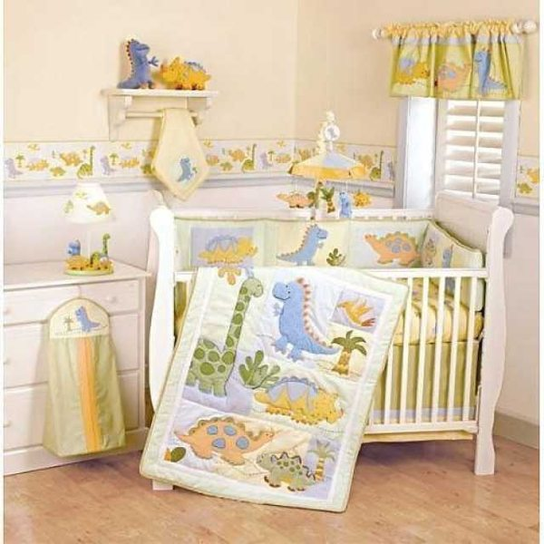 cute dinosaur baby bedding
