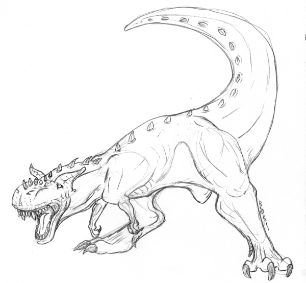 Printable Carnotaurus Coloring Pages