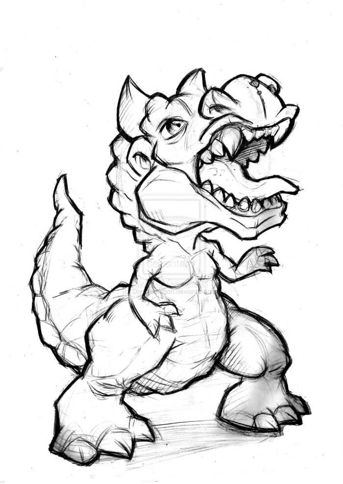 Cartoon Carnotaurus Coloring Page